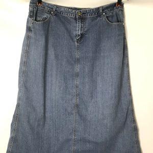 Baccini Women's Jean Modest Long Denim skirt